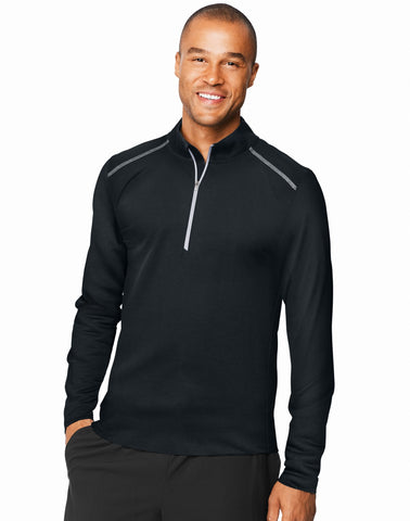 Hanes Mens Sport X-Temp Performance Quarter-Zip Sweatshirt