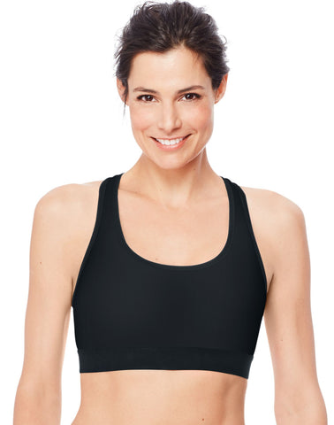 Hanes Womens Sport Racerback Compression Sports Bra