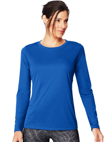 Hanes Womens Sport Cool DRI Performance Long-Sleeve T-Shirt