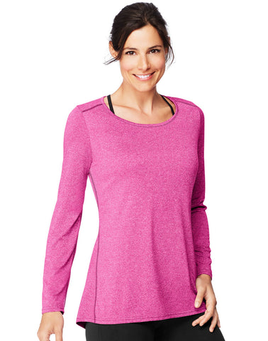 Hanes Womens Sport Performance Long-Sleeve Tunic