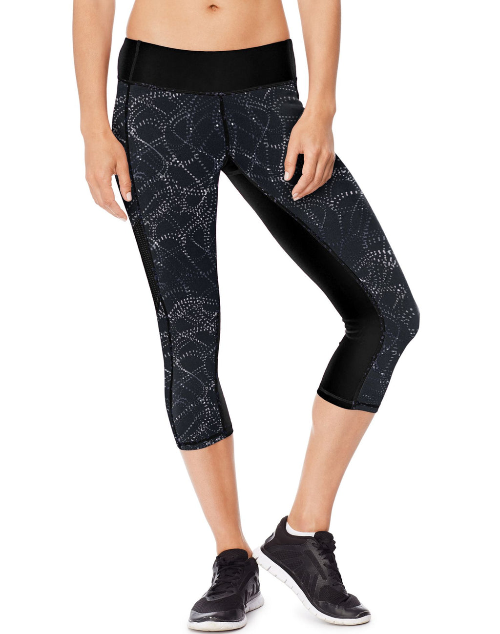 Hanes Womens Sport Performance Blocked Capri Leggings
