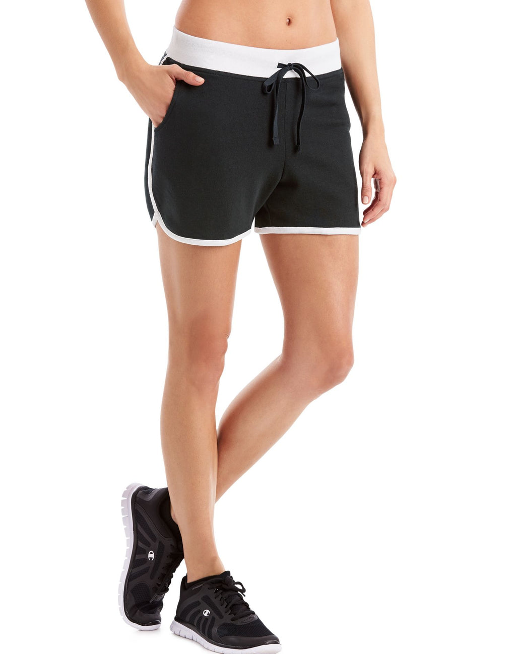 Hanes Womens Sport French Terry Shorts