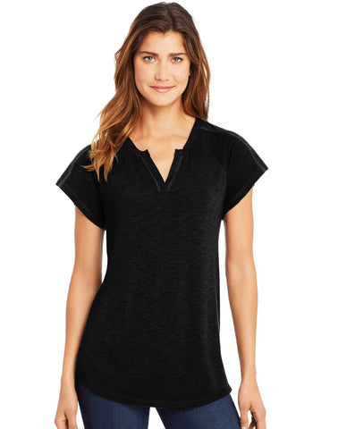 Hanes Womens Peasant Henley Top