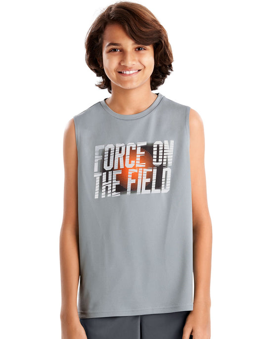 Hanes Boys Sport Graphic Sleeveless Tech Tee