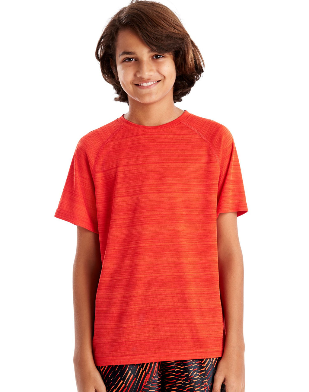 Hanes Boys Sport Heathered Tech Tee