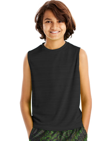 Hanes Boys Sport Sleeveless Heathered Tech Tee