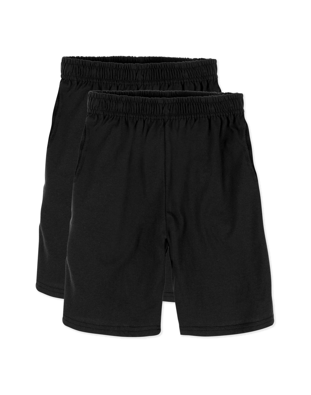 Hanes Boys ComfortSoft Jersey Pocket Short Value 2-Pack