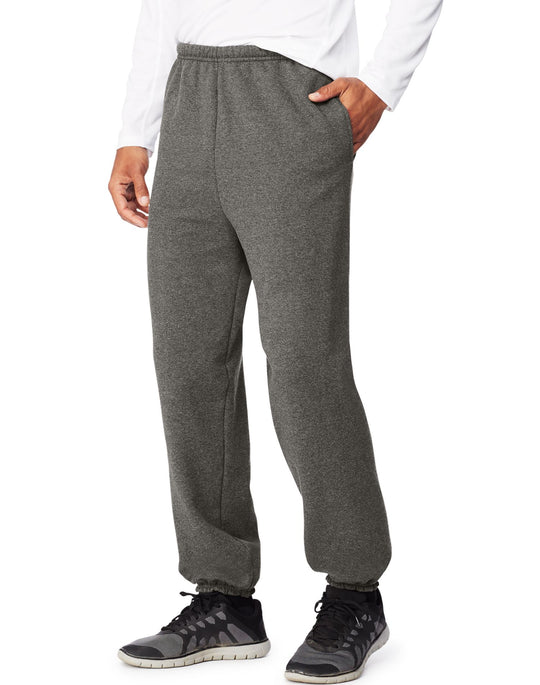 Hanes Mens Sport Ultimate Cotton Fleece Sweatpants With Pockets