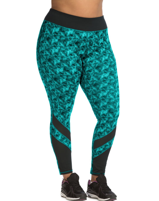 Just My Size Womens Active Pierced Mesh Run Tight