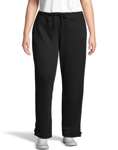 Just My Size Womens French Terry Lace Up Pant