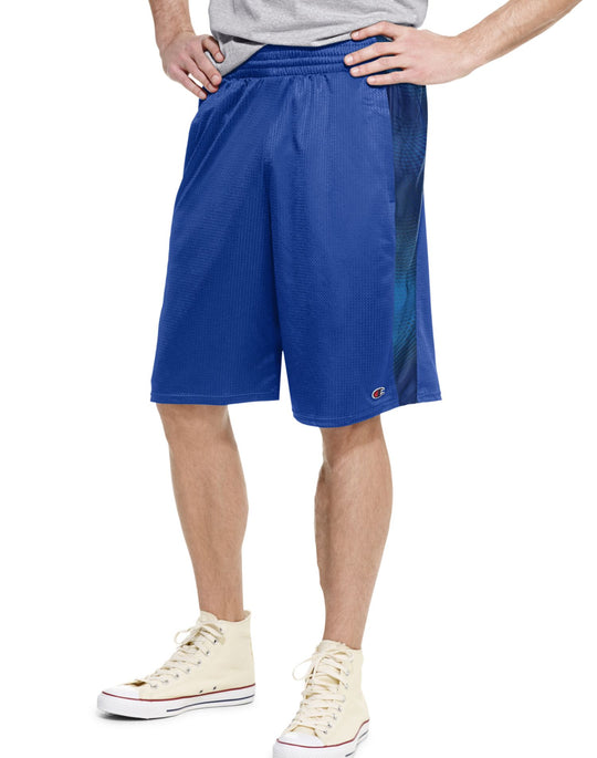 Champion Men`s Authentic Print Crossover Basketball Shorts With Pockets