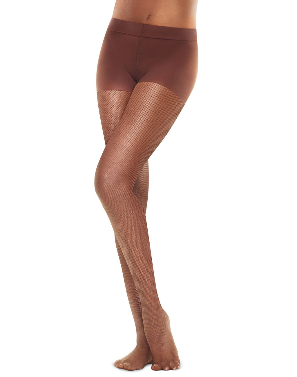 Hanes Womens Perfect Nudes™ Sheer Micro Net Girl Short Tummy Control Hosiery