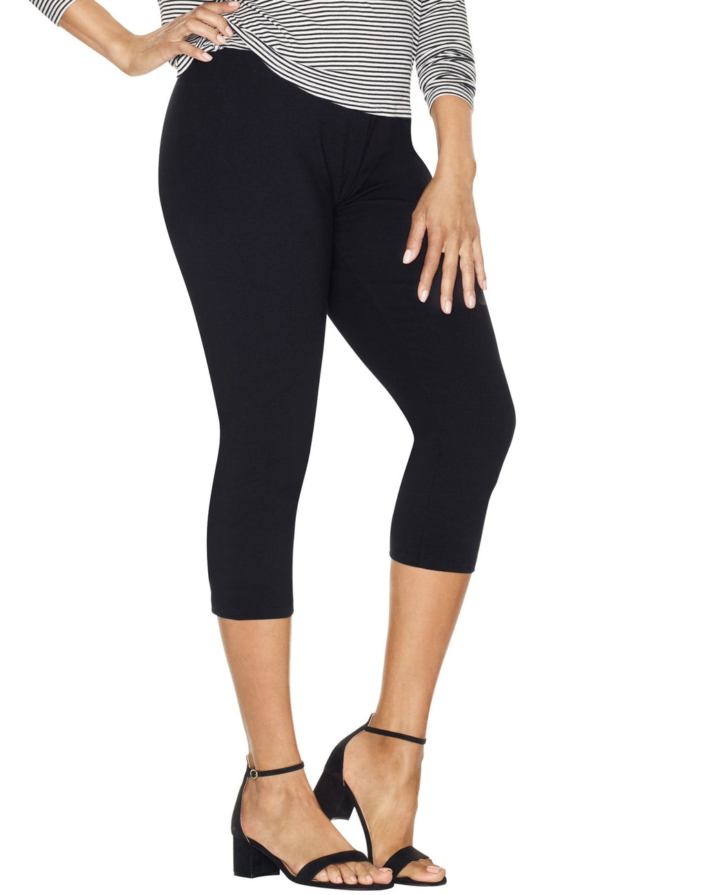 Just My Size Women`s Stretch Cotton Capri Leggings
