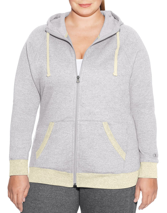 Champion Womens Plus Fleece Full Zip Hoodie