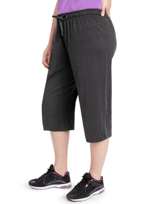 Champion Women`s Plus Jersey Capris