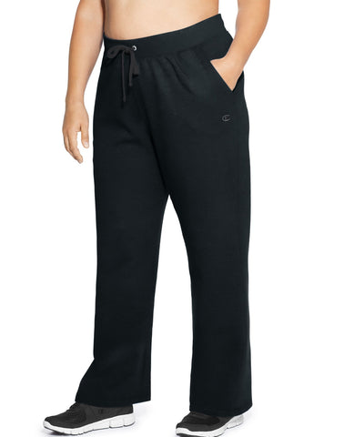Champion Womens Plus Fleece Open Bottom Pant