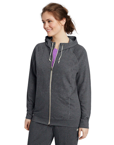 Champion Women`s Plus French Terry Full Zip Hoodie