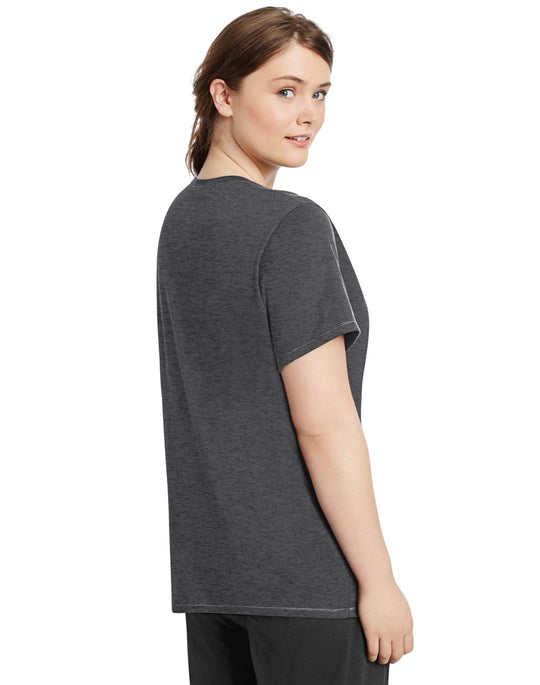 Champion Women`s Vapor Plus Jersey V-Neck Tee