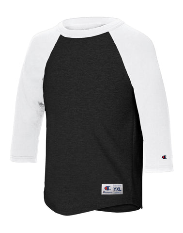 Champion Youth Raglan Baseball T-Shirt