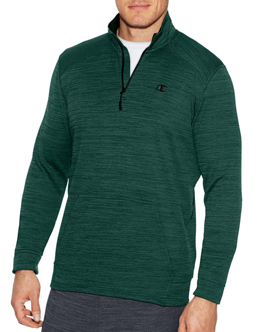 Champion Mens Premium Tech Fleece 1/4 Zip Pullover