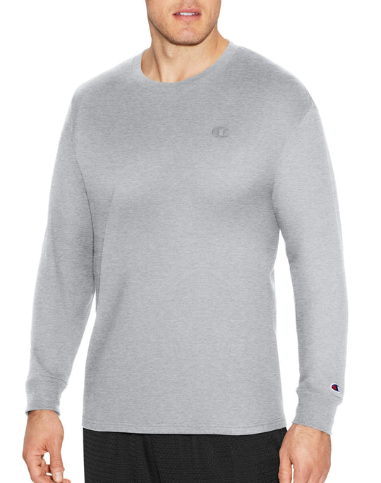 Champion Mens Classic Jersey Long Sleeve Tee
