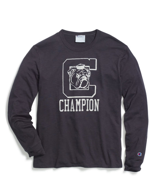 Champion Mens Heritage Long-Sleeve Slub Tee