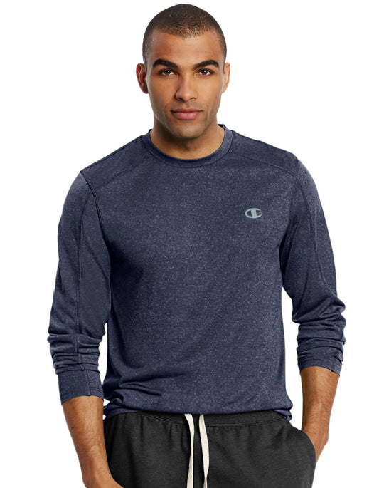 Champion Men`s Vapor Heather Long-Sleeve Tee