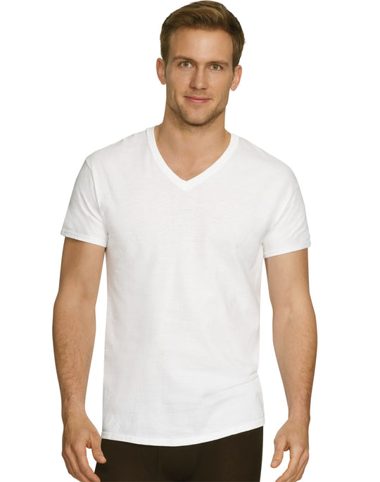 Hanes Mens Ultimate Comfort Fit Crewneck V-Neck Undershirt 5-Pack