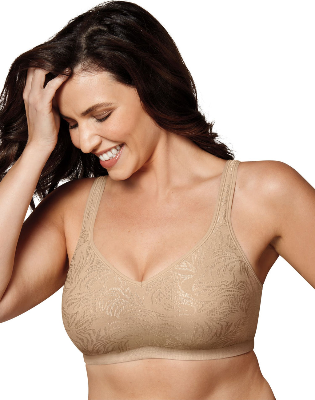 Playtex Womens 18 Hour Seamless Comfort Jacquard Wirefree Bra