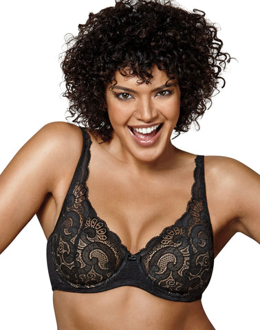 Playtex Womens Love My Curves Beautiful Lift Lightly Lined Underwire Bra