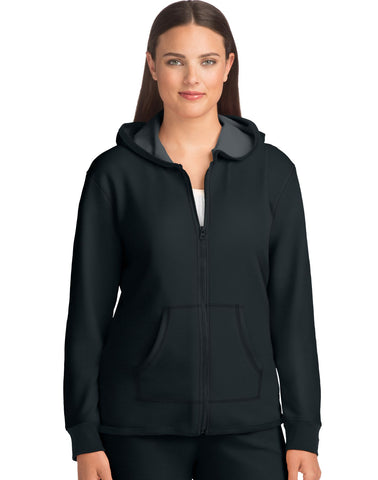 Hanes Women`s French Terry High Low Zip Hoodie