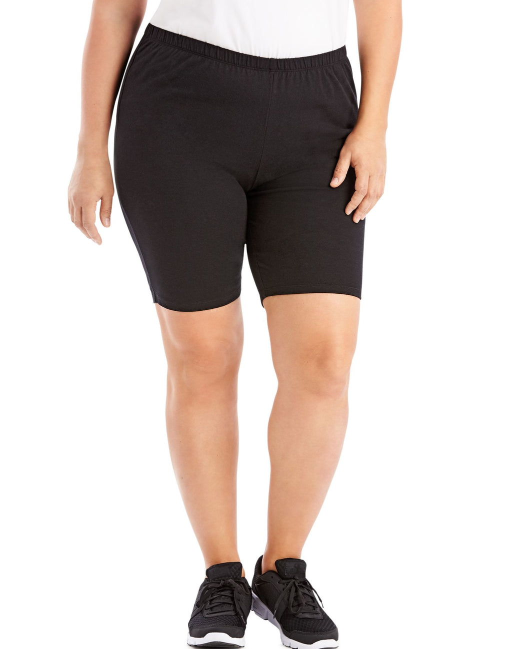 Just My Size Womens Stretch Cotton Jersey Bike Shorts