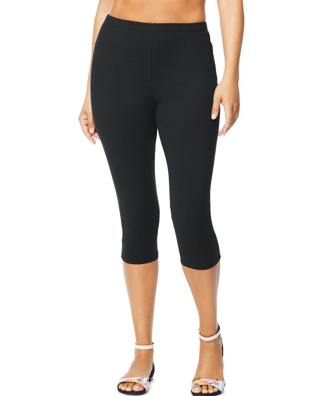 Just My Size Womens Stretch Cotton Jersey Capri Leggings