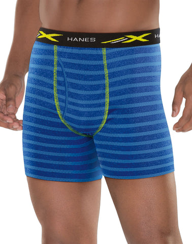 Hanes Mens X-Temp Mesh Performance Boxer Briefs 4-Pack