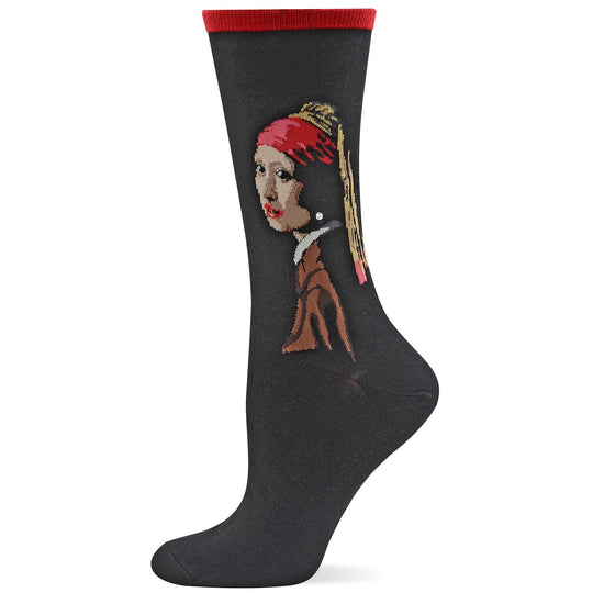 Hot Sox Womens Artist Series Girl with the Pearl Earring Trouser Sock