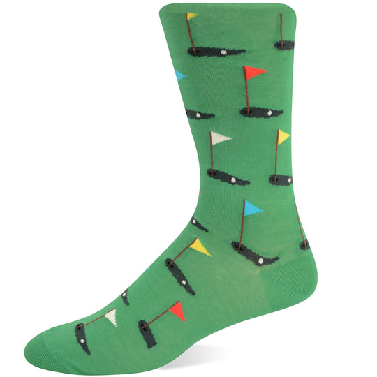Hot Sox Mens Basics Collection Golf Crew Sock