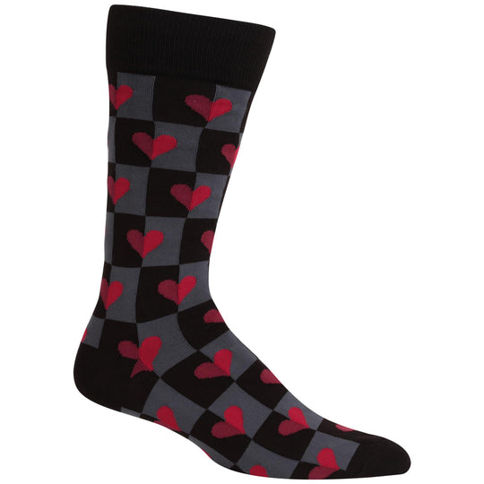 Hot Sox Mens Half Hearts Socks