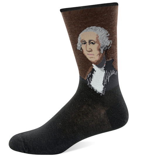 Hot Sox Mens Artist Series George Washington Sock