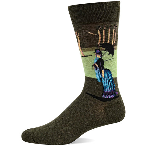 Hot Sox Mens Artist Series A Sunday Afternoon Sock