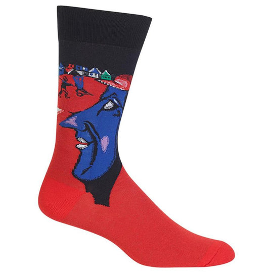 Hot Sox Mens Artist Series I and the Village Sock