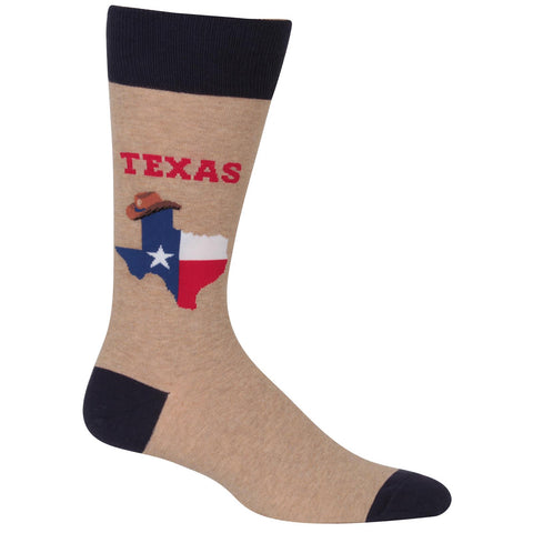 Hot Sox Mens Texas Socks