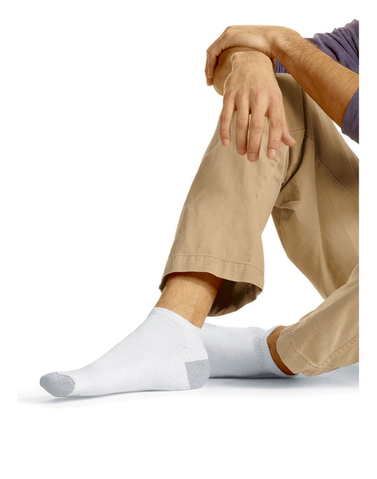 Hanes Men`s Low Cut Socks 12-Pack
