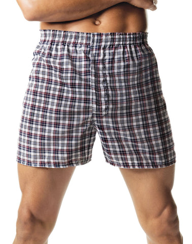 Hanes Mens Red Label Tartan Boxers 2 Pack