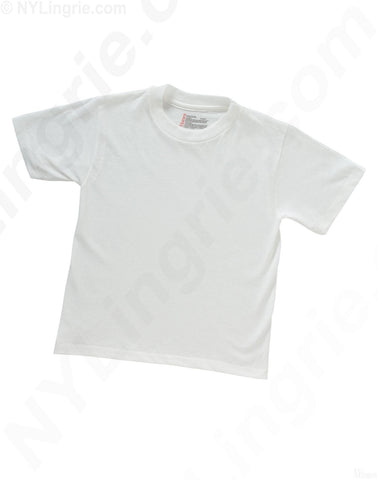 Hanes Toddler Boy's Red Label White Crew Neck T-shirts 3 Pack