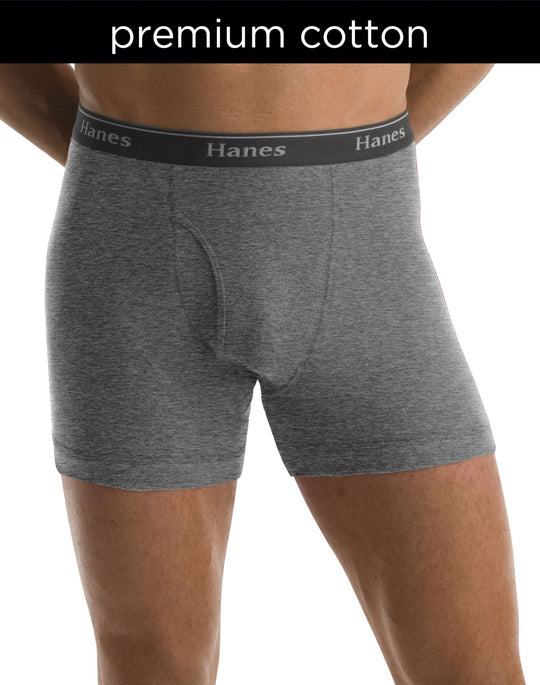 Hanes Classics Men's Boxer Briefs with Comfort Flex Waistband, Black/grey 5-Pack