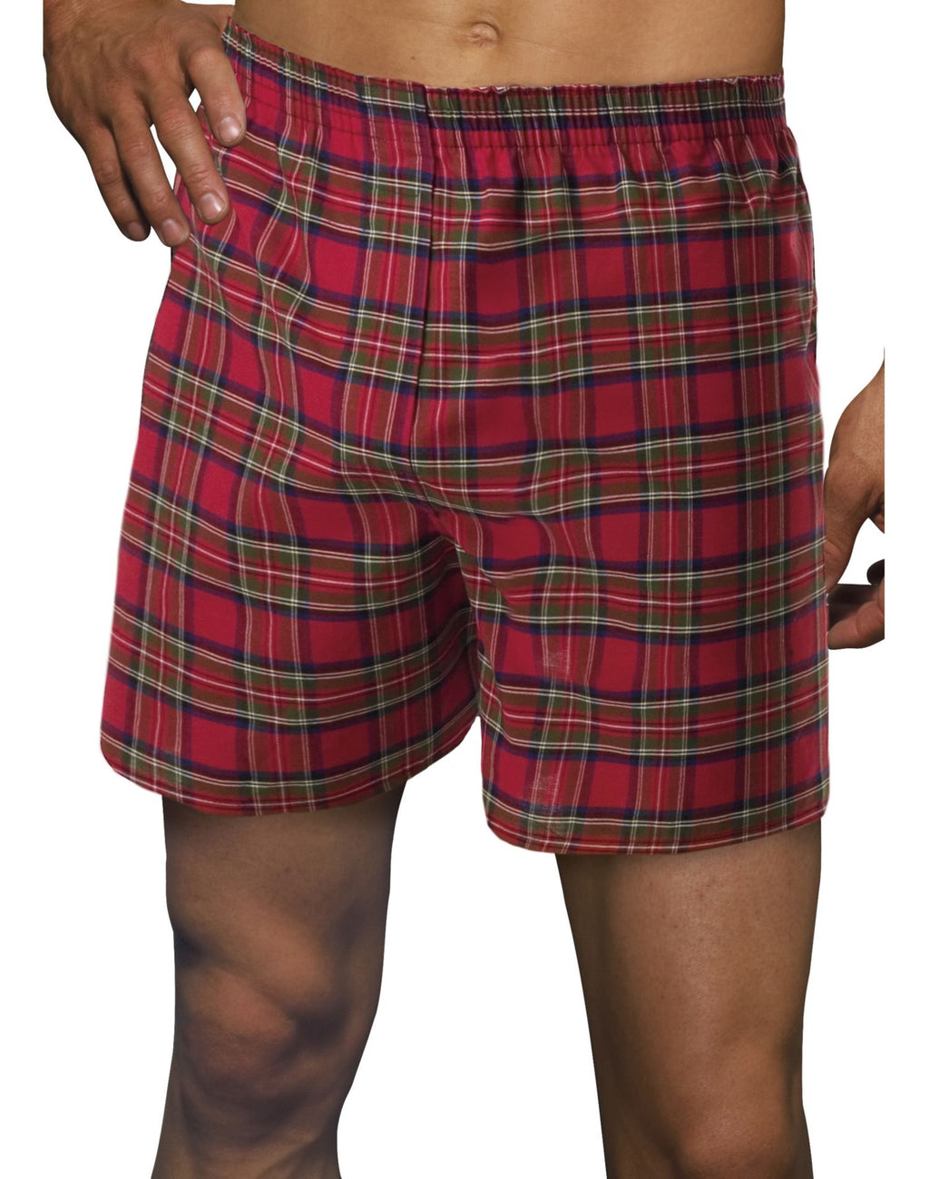 Hanes Classics BIG Men's Tartan Boxers with Comfort Flex Waistband 2-Pack