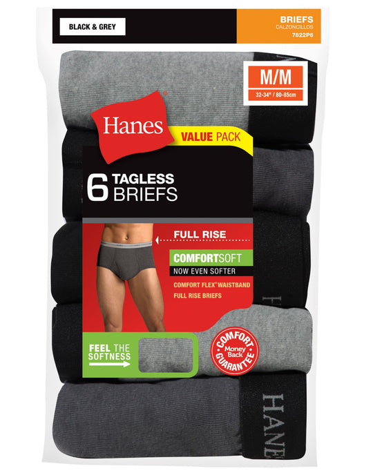 Hanes Men`s TAGLESS® ComfortSoft® Full Rise Dyed Brief