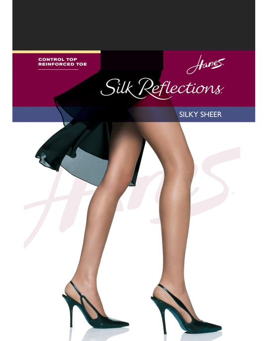 Hanes Silk Reflections Control Top, Reinforced Toe Pantyhose 1 Pair