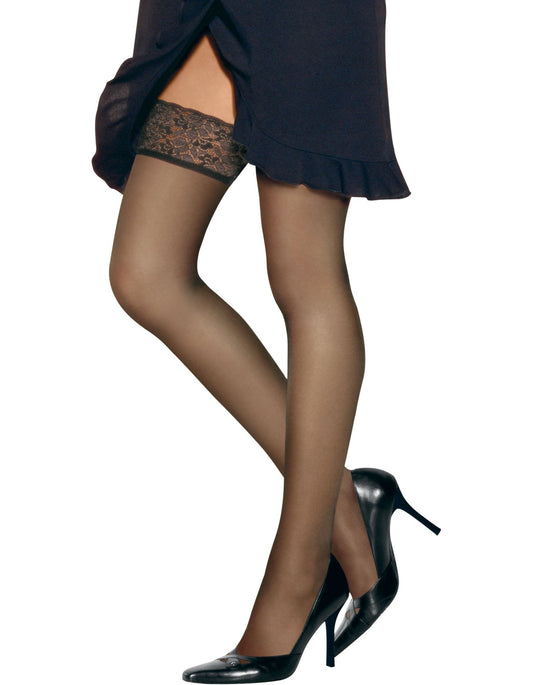 Hanes Silk Reflections Lace Top Thigh Highs 1 Pair Pack