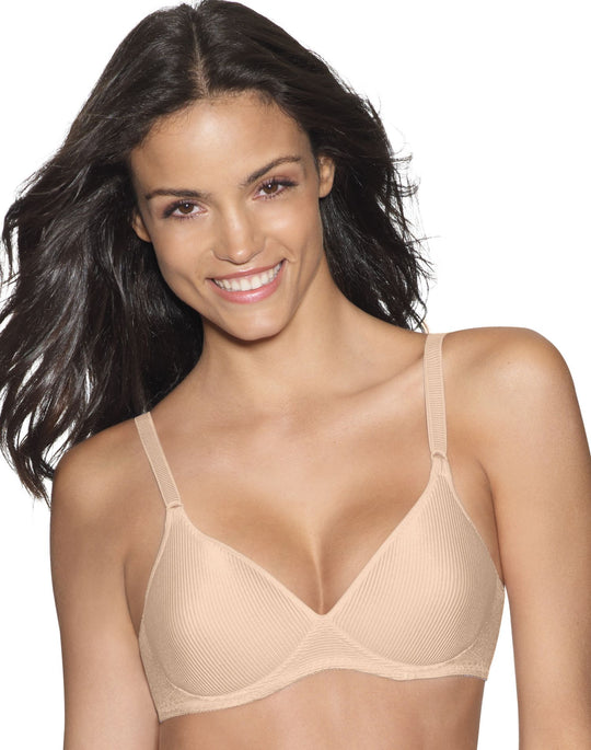 Hanes Lightly Lined Fully Padded Soft Cup Wirefree Bra